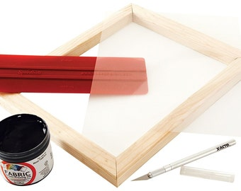 Basic Screen Printing Kit for Stencil Method, Screen Printing Kit For Basic Screen Printing, Create Reusable Stencils For Multiple Prints