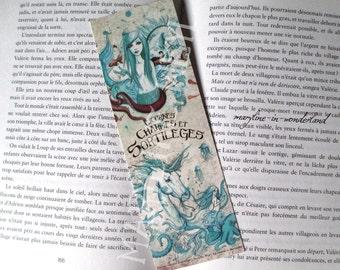 nice bookmark Unicorn and Mermaid turquoise