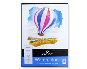 Watercolor Paper Pad Canson Aquarelle 15 Sheets 90 lb.