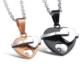 My First Priority - Couples Necklaces / Personalized Gifts for Him / Girlfriend and Boyfriend Necklaces / Matching Jewelry for Couples