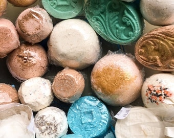 SALE Bath Bombs ~ Discount Bath Bomb Sale ~ Blue, Green, Purple, White, Tan ~ Bath Fizzies ~ Bath Fizzy ~ Half Price ~ Clearance ~ 50% Off