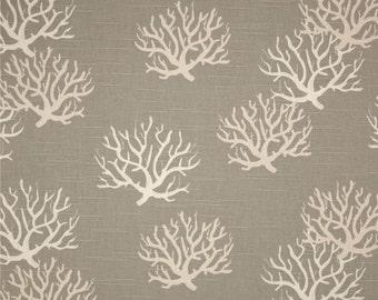 Fabric Yardage - Nautical Fabric by the Yard - Premier Prints Isadella Coastal Gray/Natural - Gray Fabric - Home Decor Fabric