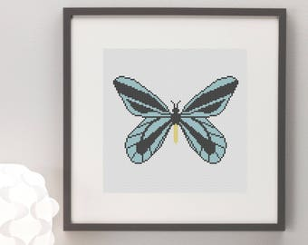 Queen Alexandra's Birdwing Butterfly Cross Stitch Pattern