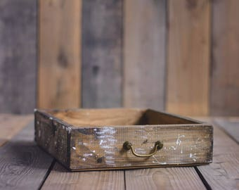 WOOD PROP CRATE Industrial, Newborn crate, drawer, newborn props, vintage crate, photography props, antiqued prop, low newborn posing crate