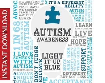 Autism Awareness Digital Image