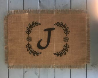 Jute Monogrammed Placemat