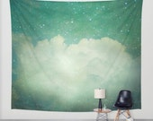 wall tapestry, large size wall art, wall decor, photo tapestry, modern tapestry, wall hanging, cloud tapestry, sky tapestry, stars dreamy