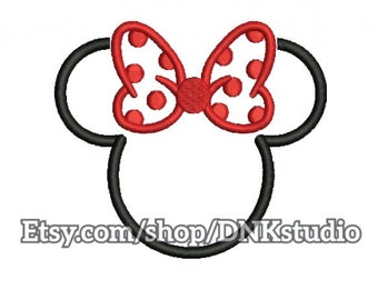 Minnie Mouse Disney Embroidery Design - 5 Sizes - INSTANT DOWNLOAD
