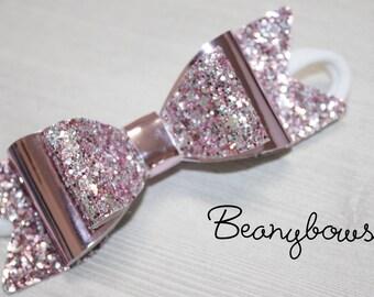 Large sparkle headband bow