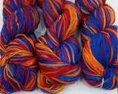 hand-dyed sock yarn in a riot of colour!
