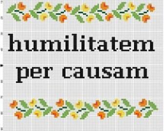LATIN: Motivation through Humiliation - Funny Latin Cross Stitch Pattern - Instant Download