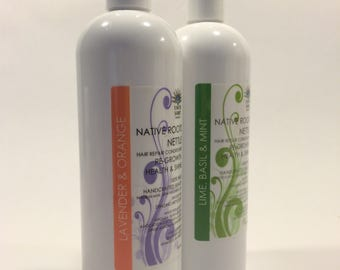 NETTLE NATIVE ROOTS Hair Repair Conditioner, Avocado, Jojoba, Argan, Castor, Almond, Grapeseed, Olive, Shea Butter, Mother's Day