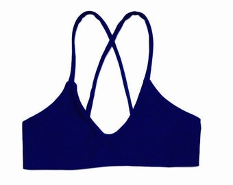 MONACO Top -Reversible Bikini Top by BonVie Bikinis-Made to Order // Custom Made // Handmade // Swimwear // Surfer Bikini Top