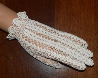 1920's 1930's Crochet  Gloves
