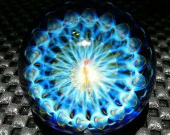"1.52"" Handmade Marble by ~Ethan Lesch~  Borosilicate, Boro, Art glass, MIB"