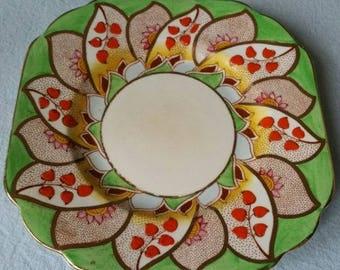 Art Deco Melba Bone China Hand Painted Side Plates