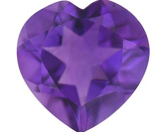 African Amethyst Heart Cut Loose Gemstone 1A Quality 10mm TGW 2.20 cts.