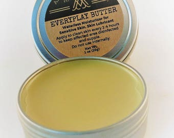 Skin Butter - EveryPlay Athletic Skin Lubricant, Makeup Remover, Tattoo After Care, Chamois Lube -1 oz
