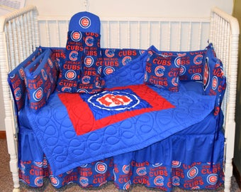 New Crib Bedding m/w Chicago Cubs Fabric