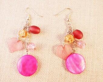 Love Pink Earrings
