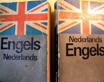 2 Dictionaries Nederland Engels Dutch English and English Dutch Vintage softbacks from the Netherlands Holland Amsterdam from 1980s 34