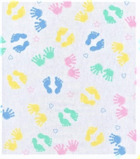 Flannel fabric baby fabric kids fabric novelty hands for Baby nursery fabric yard