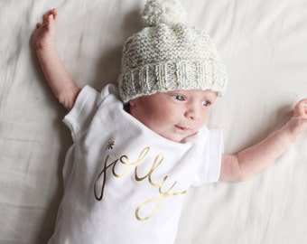 Golden Jolly limited edition body - gold Christmas baby bodysuit