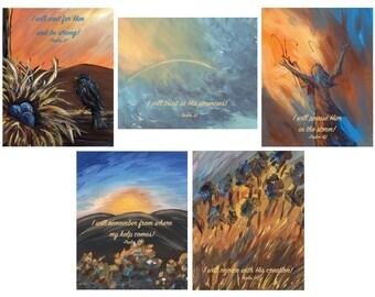 Set of 5 Inspirational Notecards