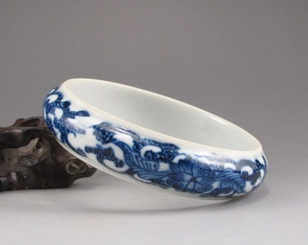 N3223 Chinese Blue And White Porcelain Bracelet