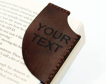 Leather bookmark,Personalized bookmark, Bookmark Corner, Gifts for Booklover, Gifts for bookworms.