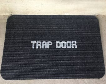 Trap Door Doormat, rug mat carpet house home warming front porch welcome funny weird apartment decor decoration him her gift present idea