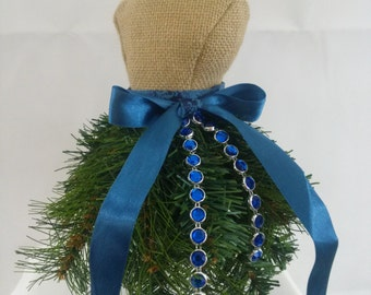 Christmas Tree Dress Form-Home Decor Dress Form-Blue Christmas Tree Dress Form