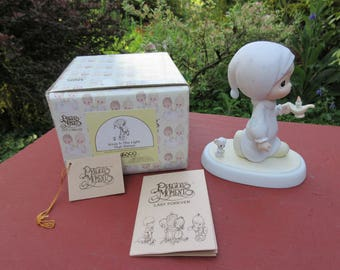 """Vintage Enesco Precious Moments """"Jesus Is The Light That Shines"""" #E-0502 in Box 1983"""