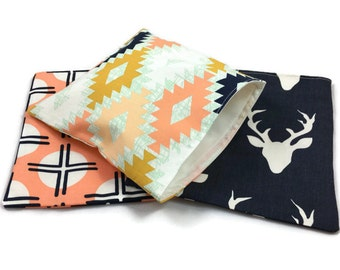 Reusable Snack Bags, Lunch Baggies, Sandwich Bags, Reusable Ziploc Bags in Arizona Tribal