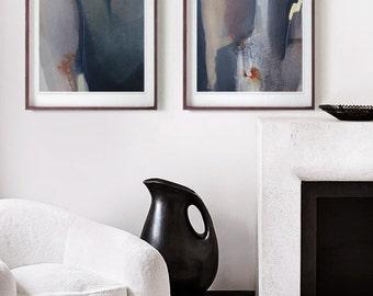 Diptych / Abstract Watercolor, Original Art - Abstract Painting / Modern Art / Abstract Diptych - Contemporary Art / Minimal Painting