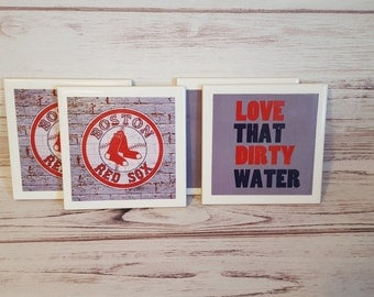 Boston Red Sox Coasters! Set of 4