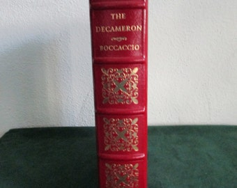 "Easton Press Leather Bound Book ""The Decameron"" by Boccaccio 100 Greatest Books Collection"