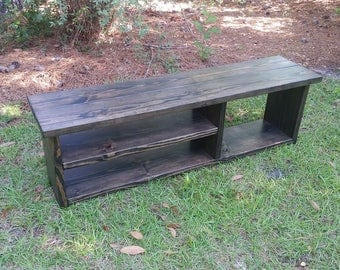 Wood Entryway Bench - With Shoe Rack And Boot Storage - Cubby Bench - Entryway Shoe Organizer