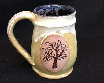 Tree of Life Pottery Mug