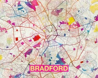 Bradford city map Etsy