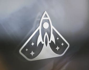 Space Shuttle Sticker Decal For Car Window, Bumper, Or Laptop