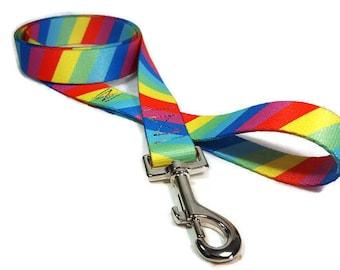 Rainbow Nylon Dog Leash