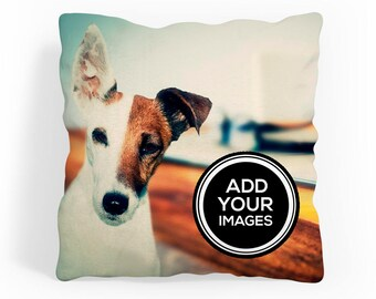 Personalised Photo Cushion Cover - Double Sided - Personalized - Edge to Edge Print!