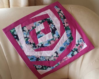Gorgeous OOAK Contemporary (Crazy) Patchwork Cushion Cover in Shades of Pink
