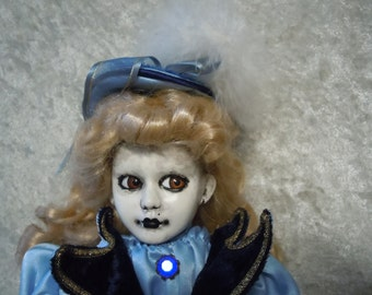 Victorian Creepy Doll with Leering Eyes #89  day of the dollies