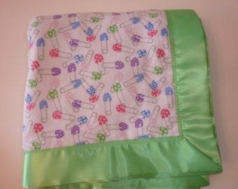 Diaper Pin Baby Blanket
