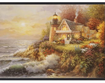 Guardian Of the Sea  by Nicky Boehme 24X36 Art Print Framed in Black Wood Frame