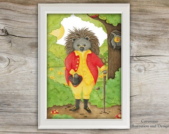 Artprint hedgehog fairytale
