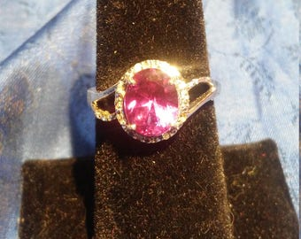 Handmade Faceted Alexandrite White Gold Ring