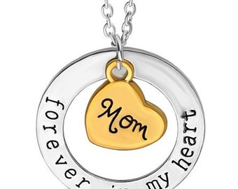 Forever in My Heart Mom Necklace